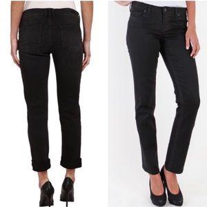 Kut from the kloth straight leg black jeans 10